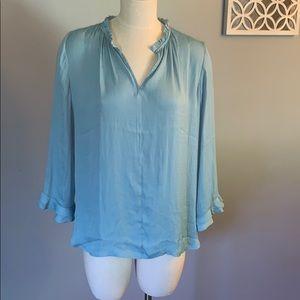 Loft women's light blue blouse bnwt medium